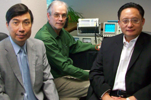 CyboSoft key members (left to right): Co-founder Dr. Carl Hsu, Director of Engineering Steve Mulkey, and CEO Dr. George Cheng.