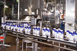 Figure 1. The Pure-Pak PR90 filling machine can fill up to 9,000 milk cartons of 1.5 litres per hour. The machine is equipped with twelve Eden E sensors for harsh environments.