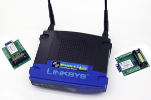 Figure 1: In the Instrumentation Cloud, the 'sensor tag' sends or receives data and commands to a commercially available wireless access point (AP).