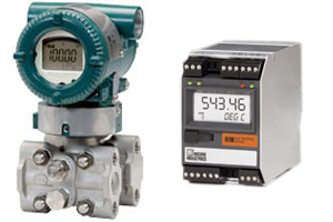 Yokogawa EJX110A pressure transmitter and Moore Industries HIM (HART Interface Module)