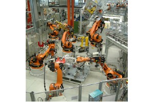 Robot application (automotive industry) [Source: Kuka]