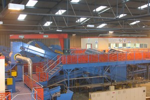 The MRF processing line at Nordic Recycling