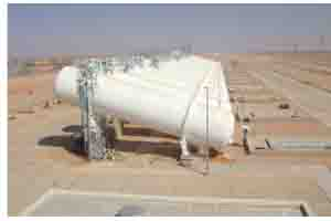 68 anti-pressure surge tanks each hold 250 cubic metres of water
