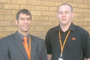 Chris Hansford, sales manager and James Bevan, application engineer