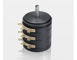 Multiple section potentiometer for industrial use