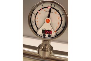 PG Manometer with LEDs in dial