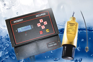 The MSP900FH ultrasonic level transmitter features a pre-wired remote temperature sensor.