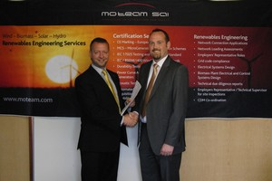 (L-R) Rob Moran, managing director of Mo Team  and Donal Bourke, account manager of Yokogawa Ireland shake on the partnership agreement