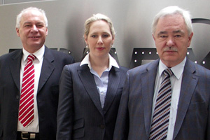The management team (L to R): Friedrich Keglowich, Annette Heimlicher, and company founder Peter Heimlicher.