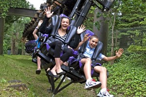The Vampire ride is a swinging, suspended rollercoaster at Chessington World of Adventures