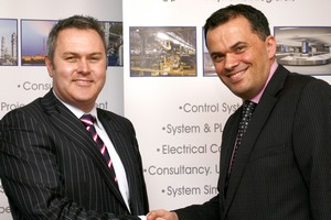 Left Steve Ruddell, ABB; right James Jordan, MacDonald Humfrey Automation