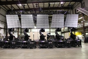 Five ABB IRB 7600 industrial robots will accompany the nearly two-year long Bon Jovi tour, which currently features approximately 60 concerts in North America and Europe, with additional dates likely to be scheduled