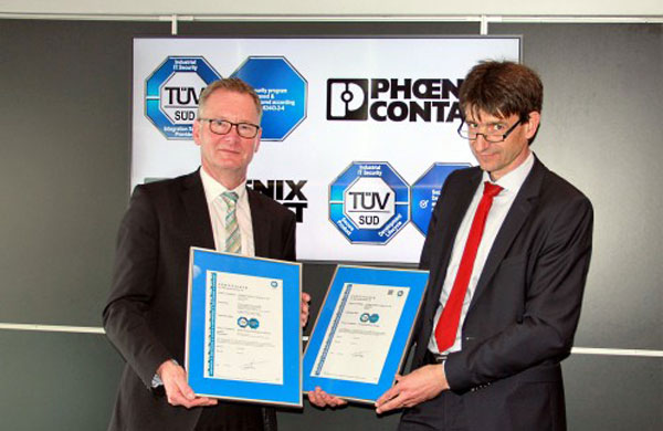 Phoenix Contact awarded IEC 62443-4-1 and 2-4 certification