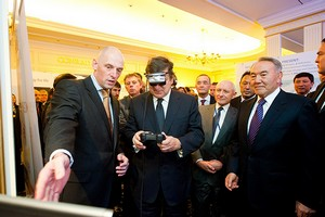 (Reading left to right) Nicholas Pomeroy - General Director, Invensys Kazakhstan Jose Manuel Barosso, President of the European Commission President Nursultan Abishevich Nazarbayev of Kazakhstan