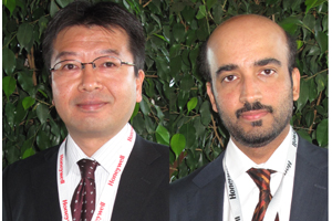 Toshi Hasegawa of Yokogawa Electric and Khalid Hussain of Qatar Fertiliser Co
