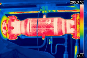 Thermographic image highlighting hot spots